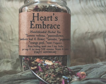 Heart's Embrace- Handblended Herbal Tea for Soothing and Calming