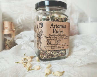 Artemis Rides- Handblended Herbal Tea for Lunar Renewal