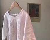 XS white linen blouse.