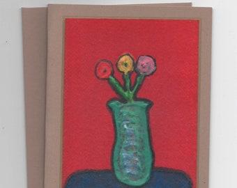 Folded Floral Art Cards
