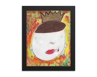 Carmen, Artist with Autism, Framed Poster