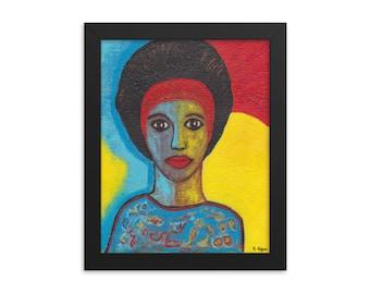 African American Art, Framed Poster, 8 x 10