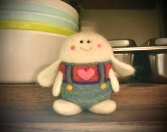 OOAK Cashmere and Merino Wool Bunny Toy Ready to Ship