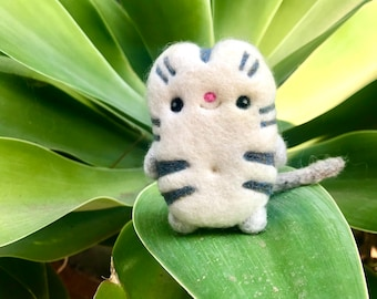 Little White Kitty Needle Felted Cashmere Cat