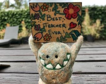 Sign Monster Best Teacher Ever
