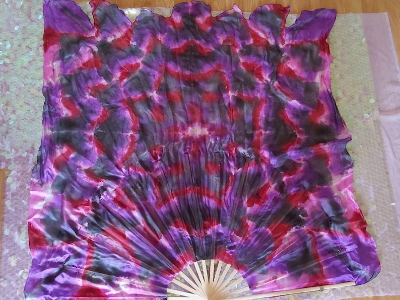 45 wide Gypsy Lotus Premade ready to ship *pls read Item Details Large SINGLE XXL Silk Fan  Mondo 43 long