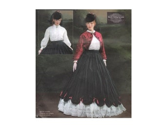 Steampunk Sewing Patterns- Dresses, Coats, Plus Sizes, Men's Patterns McCalls 4339 Misses Civil War Costume  $16.00 AT vintagedancer.com