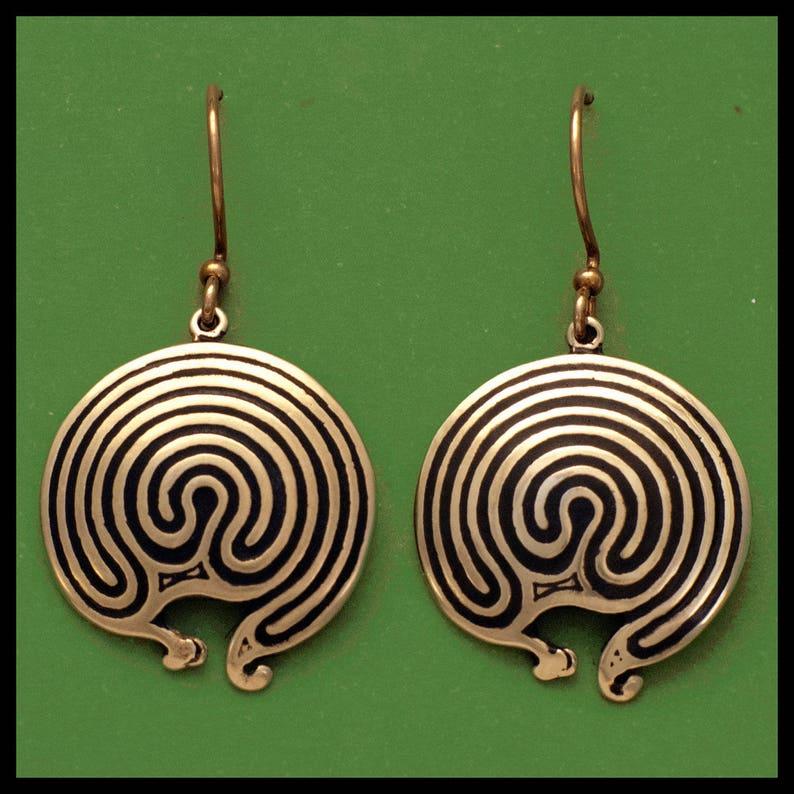 JERICHO LABYRINTH Bronze Earrings image 0