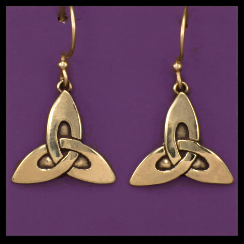 CELTIC TRINITY KNOT  Earrings Bronze image 0