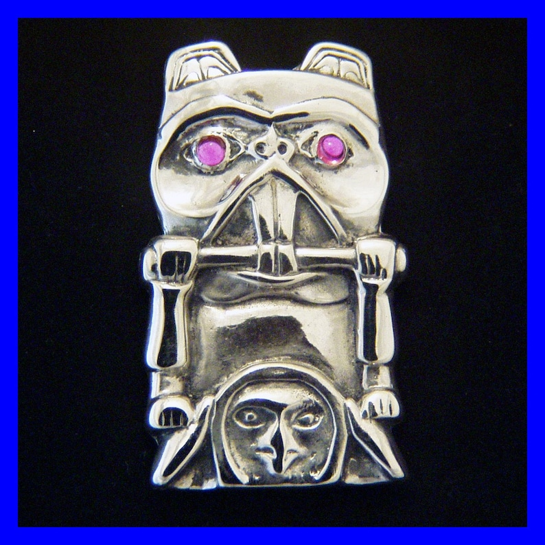 North-West Tribal BEAVER TOTEM with Pink Tourmaline Eyes image 0
