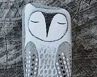 Large Beach Glass Owl