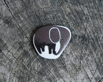 Tiny Flat Beach Slate Elephant