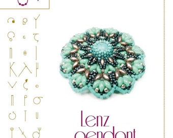 Jewellry pattern pendant tutorial / pattern Lenz pendant ...PDF instruction for personal use only