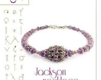 Anhänger-Lernprogramm / Jackson-Collier mit Perlen Superduo Muster... PDF-Anleitung für den persönlichen Gebrauch