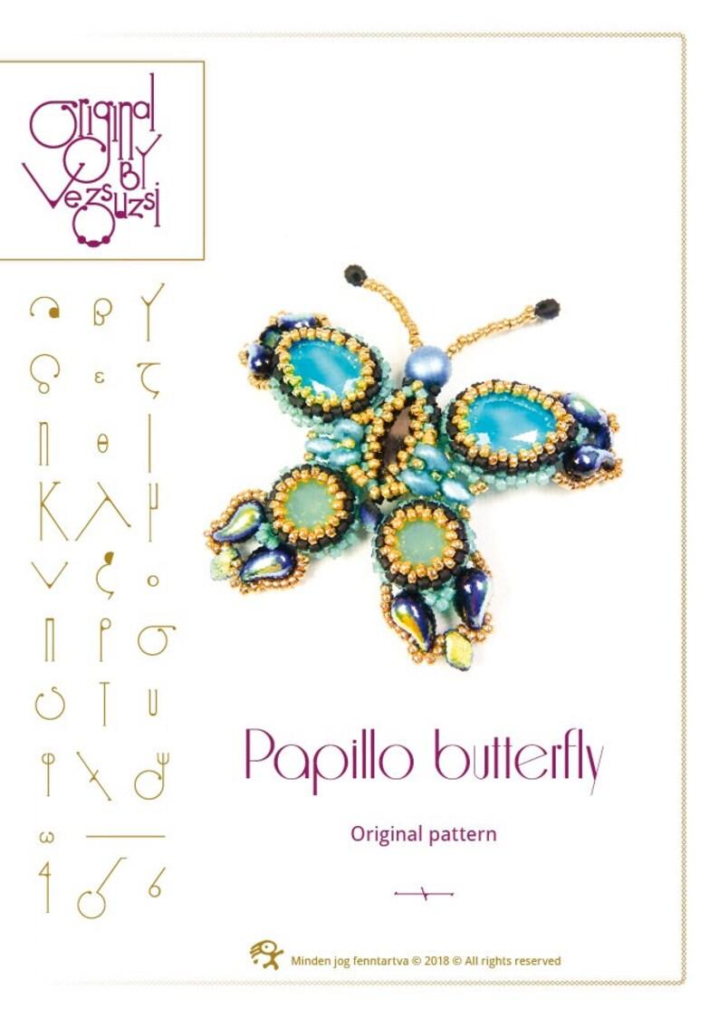 pendant tutorial / pattern Papillo butterfly PDF instruction image 0