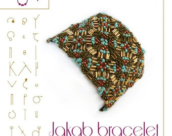 Beading tutorial / pattern Jakab bracelet. Beading instruction in PDF – for personal use only