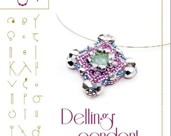 beading pattern Pendant tutorial / pattern Dellingr pendant PDF instruction for personal use only