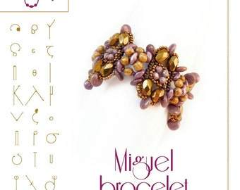 Beading pattern Bracelet tutorial / pattern Miguel  ..PDF instruction for personal use only