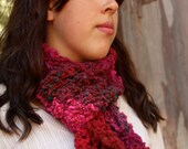 Hand Knit Burgundy Red Da...