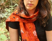Nuno Felted Collage Scarf...