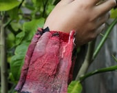 Nuno Felted Collage Cuff ...