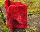 Felted Cuff Bracelet Red ...