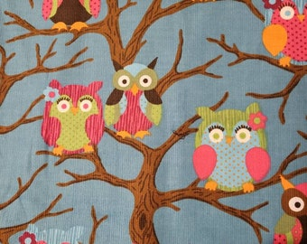 Barn owl and baby corduroy pinafore for a 4-5 year old Gift idea.
