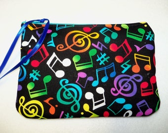 Music Musical Notes  Coin Change Purse Free Shipping