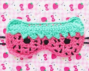 StrawBeary Crochet Sleep Mask