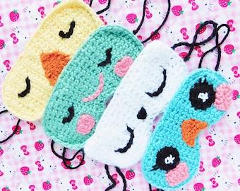 Animal Crochet Sleep Masks (PICK ONE)