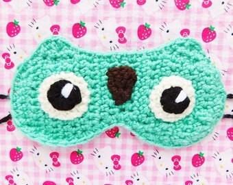 Owl Crochet Sleep Mask