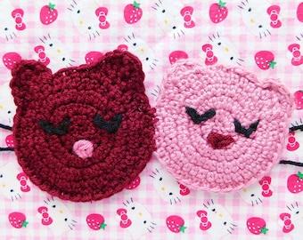 Couple Bear Crochet Sleep Mask