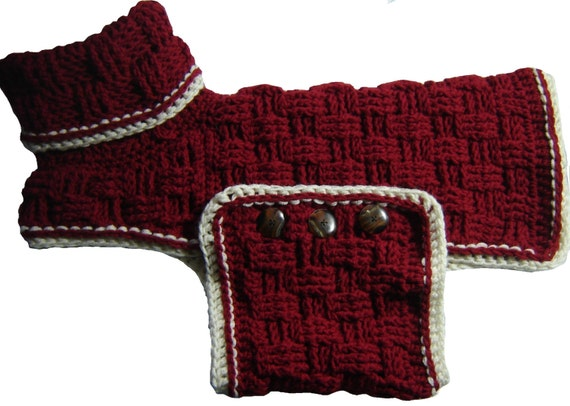 Cozy Canine Sweater Crochet Pattern Pdf File Dog Sweater Etsy