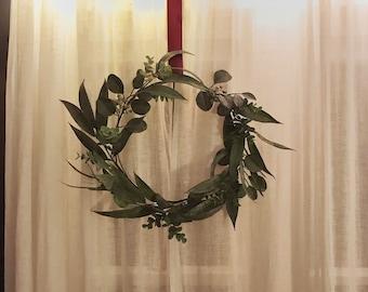 Minimalist Faux Eucalyptus Wreath