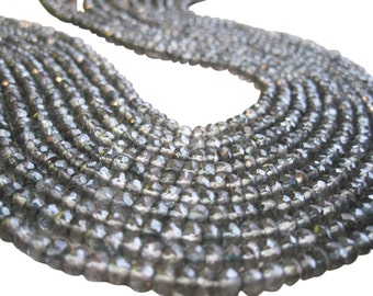Mystic Quartz Beads, Green Mystic Quartz, 3.2mm, Faceted Rondelles, SKU 2081