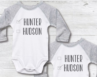 f894d6e59 Gift for Twins, Twin Gift, Twins Set, Twin Shirts, Identical Twin Shirts, Twin  Boys, Twin Babies, Baby Shower Gift, Newborn Twins GIft
