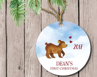 Baby's First Christmas Ornament, Personalized Ornament, Christmas Ornament Baby's First, Babys First Ornament, First Christmas Ornament Baby