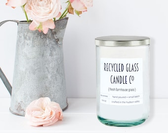 Handmade Candle, Soy Candle, Natural Candles, Handpoured Candles, Scented Candles, Fresh Cut Grass, Aromatherapy Candles