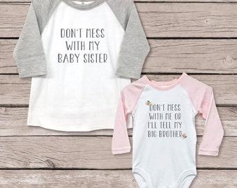b04224f36cb17 Big Brother Little Sister Shirts, New Big Brother, Baby Shower Gift, Big  Brother Baby Sister, New Big Brother, Sister Security Shirt