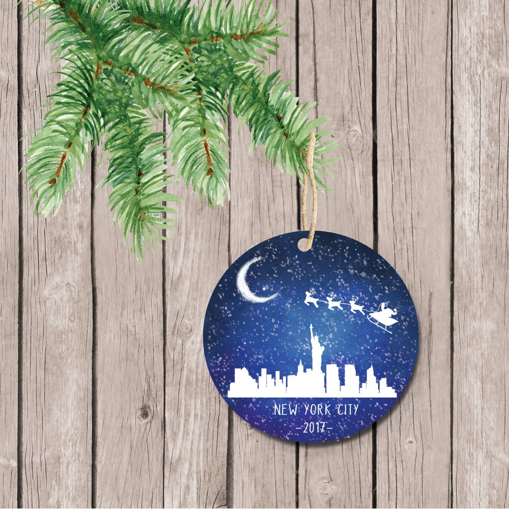 New York City Christmas Ornament NYC Ornament Manhattan | Etsy