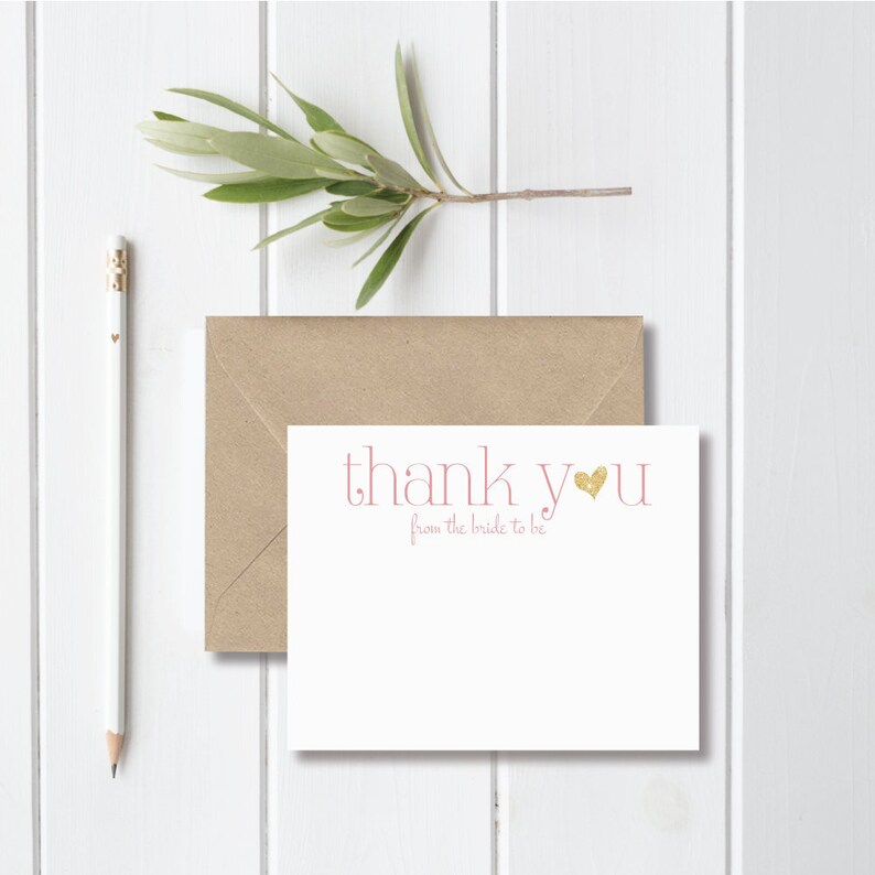 069e7845bc48 Bridal Shower Thank You Cards Bride To Be The Future Mrs