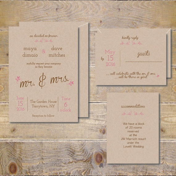 Recycled Wedding Invitations: Recycled Wedding Invitations . Wedding Invites . Rustic