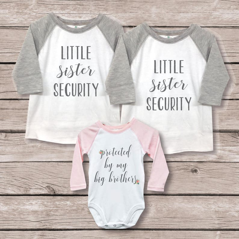 New Big Brother New Big Brother Baby Shower Gift Big Brother Little Sister Shirts Sister Security Shirt Big Brother Baby Sister