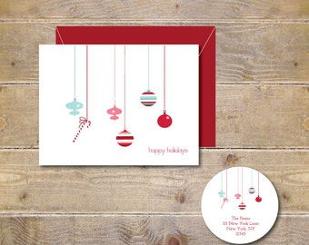 Christmas Cards . Holiday Cards . Christmas Card Sets . Greeting Cards . Personalized Christmas Cards - Hanging Ornaments