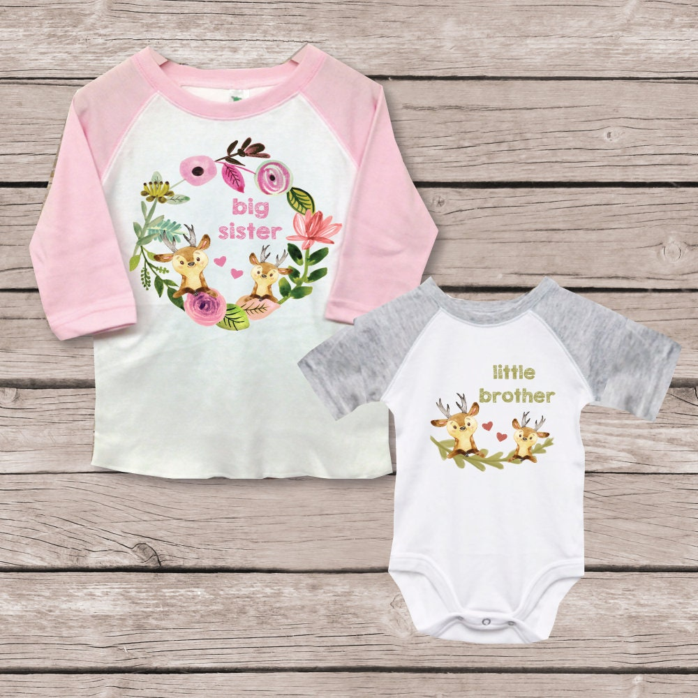 Big Sister Little Brother Shirts New Big Sister Baby -2836