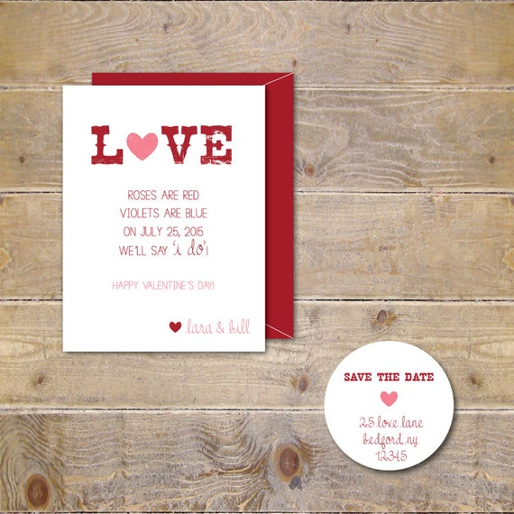 Wedding Save The Dates Valentine S Day Save The Dates Etsy