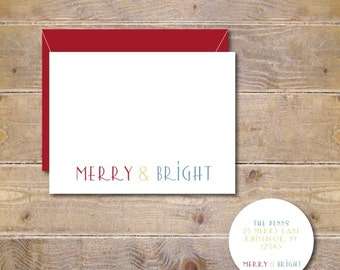 Christmas Cards . Holiday Cards . Cards Christmas - Merry & Bright