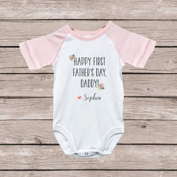 Vaderdag Cadeau Van Vaderdag Cadeau Van Dochter Eerste Vaderdag Cadeau Vaderdag Shirt Geschenk Van Kids Baby Geschenk Van Baby