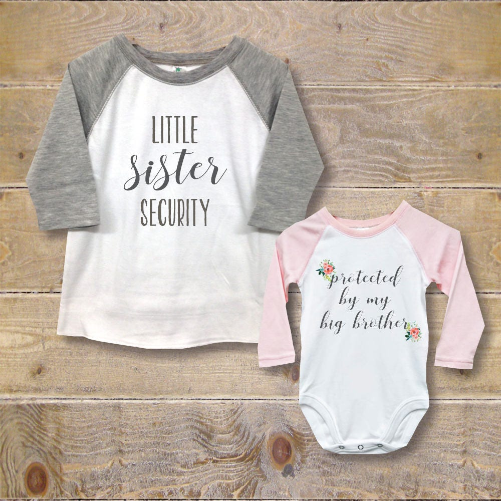 Big Brother Little Sister Shirts New Big Brother Baby -6715