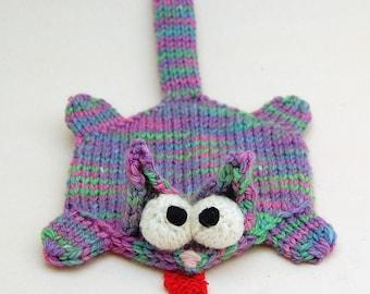 Splat Cat Amigurumi Plush Toy Coaster Knitting Pattern PDF Download